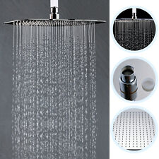Ceiling Mount Arm 16-Inch Square Rain Shower Head Bathroom Overhead Spray Chrome