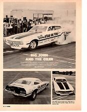 1971 MAVERICK FUNNY CAR 392 HEMI / JOHN BATEMAN ~ ORIGINAL 2-PAGE ARTICLE / AD