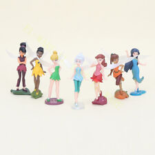 7 Pcs Disney Tinker Bell Fairies Princess Figure Doll Play Cake Topper Loose