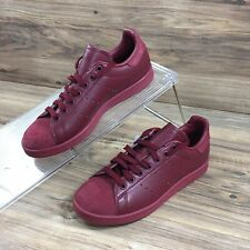Adidas Mens Originals Stan Smith Leather Sneakers Shoes Burgandy Size 7 New
