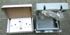 Outdoor double RCD socket & waterproof enclosure IP65