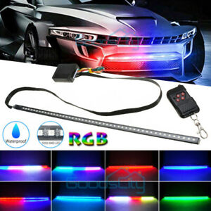 Megulla Music Sync Exterior Car LED Strip Lights with Full Color Spectrum and Bluetooth APP Control Neon Accent Lights Kit LED Light Strip for Cars Waterproof Under Lights for Cars Trucks and SUVs