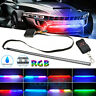 48 LED RGB Knight Rider Scanner Flash Car Strobe 7 Color Light Kit Strip 22 Inch