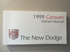 99 1999 Dodge Caravan owners manual