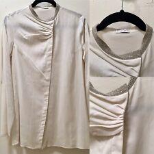 Brunello Cucinelli Assymetric Sequin Collar Blouse $1245