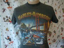Vintage Harley Davidson 1989 3D Emblem Golden Gate Bridge Lubbock Tx T Shirt S
