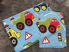 Boys Toddler Cotbed Duvet Cover Bedding Set Truck Digger Design