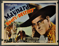 BOOTS OF DESTINY 1937 ORIGINAL 22X28 MOVIE POSTER KEN MAYNARD CLAUDIA DELL