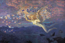 Wings of the Morning by Edward Robert Hughes 60cm x 40cm Art Paper Print