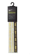 Nike Reflective Hazard Print Strip Headbands 3 Pack N0002755912 White/Black/Gold