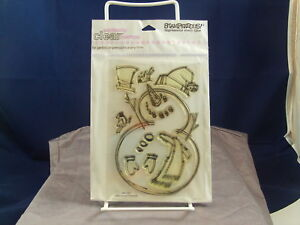 NEW STAMPENDOUS PERFECTLY CLEAR STAMP JUMBO SNOWMAN SSC1009  1017