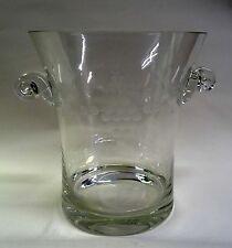 Edler Weinkühler Eiskübel geschliffenes Kristallglas Traupen Weinblätter Motiv