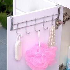 Stainless Steel Over The Door Hooks Dress Coat Rack Home Bathroom Hanger-25*9Cm;