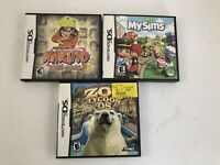 My Sims Zoo Tycoon Naruto Ninja Council Lot Of 3 Nintendo DS Games W Cases