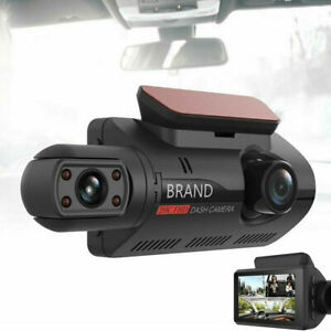 3in Dash Cam Recorder Dual Lens Camera HD Touch Screen Car DVR Vehicle Video