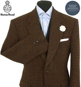 Harris Tweed Jacket Blazer 40R Dogtooth Country Weave Hacking Hunting Sports