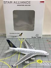 RARE JC Wings / Herpa Scale 1:500 Singapore Airlines Star Alliance A380 9V-SKT