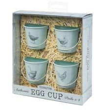 Eddingtons Egg Cup Buckets - Vintage Pale Bue - Set Of 4 Chicken