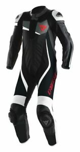 DAINESE VELOSTER 1 PIECE PERFORATED LEATHER SUIT BLACK/WHITE