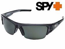 NEW SPY Optic Stokes Clear Smoke Frames POLARIZED Grey/Green Lenses Sunglasses
