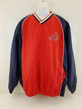 Vintage Mens Large Jacket Atlanta Braves Authentic  Majestic Pull-Over Sz XXL