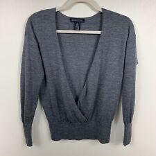 Banana Republic XS Women Italian Merino Wool Gray Sweater Top Pullover Winter.