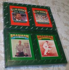 2 BOXED SETS THE FIVE MILE PRESS BRADMAN/BORDER THE MAN & RECORDS~2 MINI BOOKS