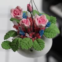 Pflanze Rose Rosa Blume Miniatur 1:12 Garten Puppenstube Puppenhaus Deko G