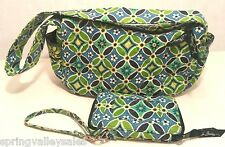 Vera Bradley Daisy SET/3 Grab Go Wristlet & Shoulder Purse Organizer ID Wallet