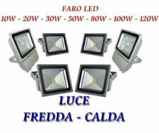 FARO FARETTO A LED SLIM LUCE CALDA FREDDA NATURE RGB 10W 20W 30W 50W 80W ESTERNO