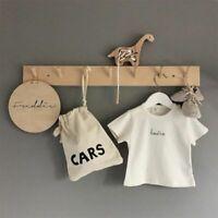 Wooden Coat Hooks Wall Hanger Hat Clothes Bag Storage Shelf Key Holder Organizer