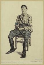 British Army Soldier Scottish Highland Officer 1917 6x4 Inch Print Reprint