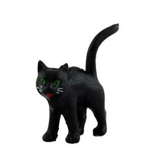 Melody Jane Dolls House Miniature Animal Halloween Accessory Black Cat Standing