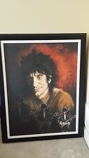 Ronnie Wood TRIPLE SELF PORTRAIT-HAND SIGNED custom frame SOLD OUT 49/99 STONES
