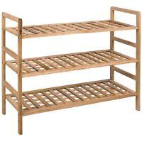 3 Tier Criss Cross Shoe Rack Walnut Storage Stand Organiser New By Home Discount