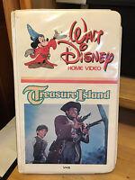 RARE- DISNEY'S-Treasure Island (VHS) WHITE CLAMSHELL-BOBBY DRISCOLL
