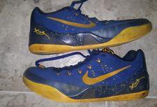 f839eec993b5 Nike Kobe IX 9 Shoe Gym Blue University Gold 646701-474 mens size US10.