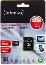 Intenso micro SDHC Carte 32 Go Carte mémoire Class 10 + Carte SD Adaptateur 3413480