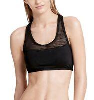 Calvin Klein Mesh-Trim Racerback Bikini Top size M
