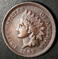 1867 INDIAN HEAD CENT - With LIBERTY - VF VERY FINE