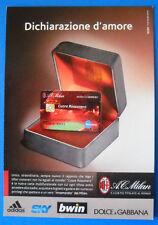 CARTOLINA PROMOCARD N.8146 - MILAN - CUORE ROSSONERO - DICHIARAZIONE D'AMORE