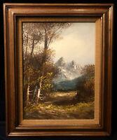 Vintage Ken Bowman Original Oil Painting On Canvas Signed Framed