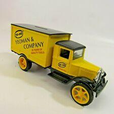 "Yeoman & Company Die Cast Bank Yellow Truck 7"" Yo-Ho 1931 Hawkeye Ertl Ltd. Ed."