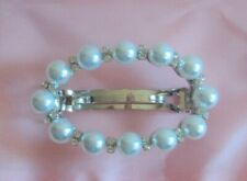 Pearl Diamonds Hair Clip Barrette Prom Wedding Formal - FLASH SALE