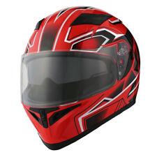 1Storm Motorcycle Full Face Dual Visor Helmet Inner Sun Visor Shield Red