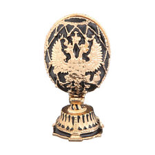 Faberge Egg big Russian Coat of Arms Church of the Savior on Blood 2.6'' black