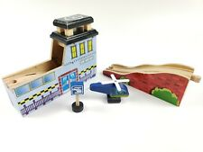 Imaginarium Wooden Train Tunnel Track & Helicopter Landing Pad W/Sound Brio