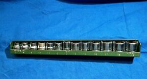 """SK Tools13 piece 3/8"""" drive shallow 6 point METRIC socket set 7mm - 19mm w/tray"""
