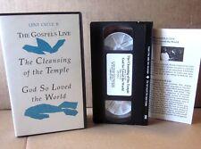 GOSPELS LIVE Cleansing of Temple VHS God So Loved World live-action Lent 1994