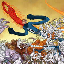 FANTASTIC FOUR Signed ART PRINT Geof Darrow INVISIBLE WOMAN Thing HUMAN TORCH